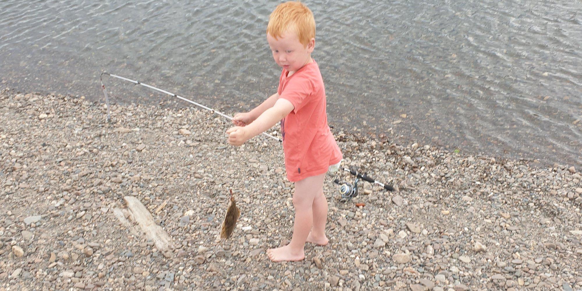 Første fisk i Namsen.